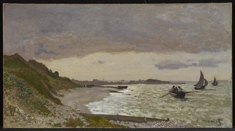The Coast at Sainte-Adresse 1864